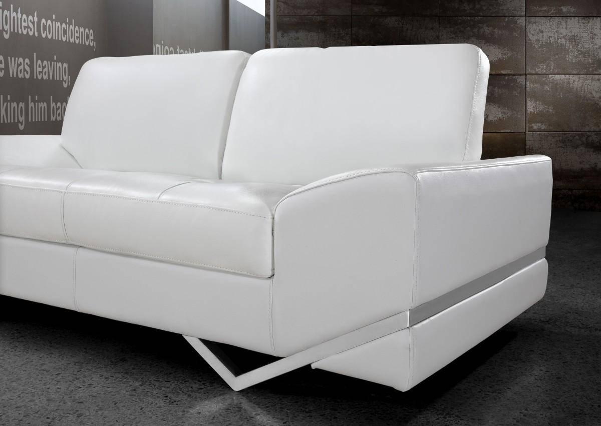 Buy Soflex San Francisco Sofa Set 3 Pcs In White Eco Leather Online