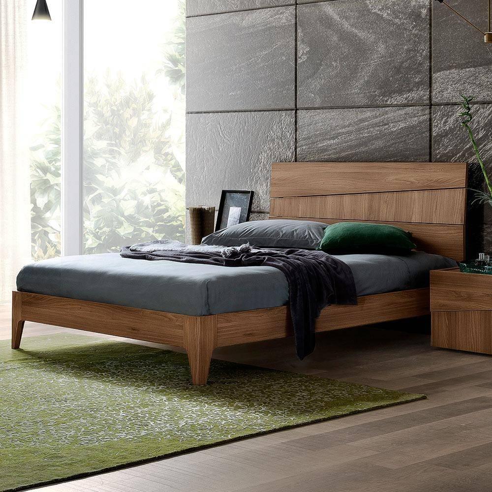 buy esf storm queen platform bedroom set 2 pcs in walnut