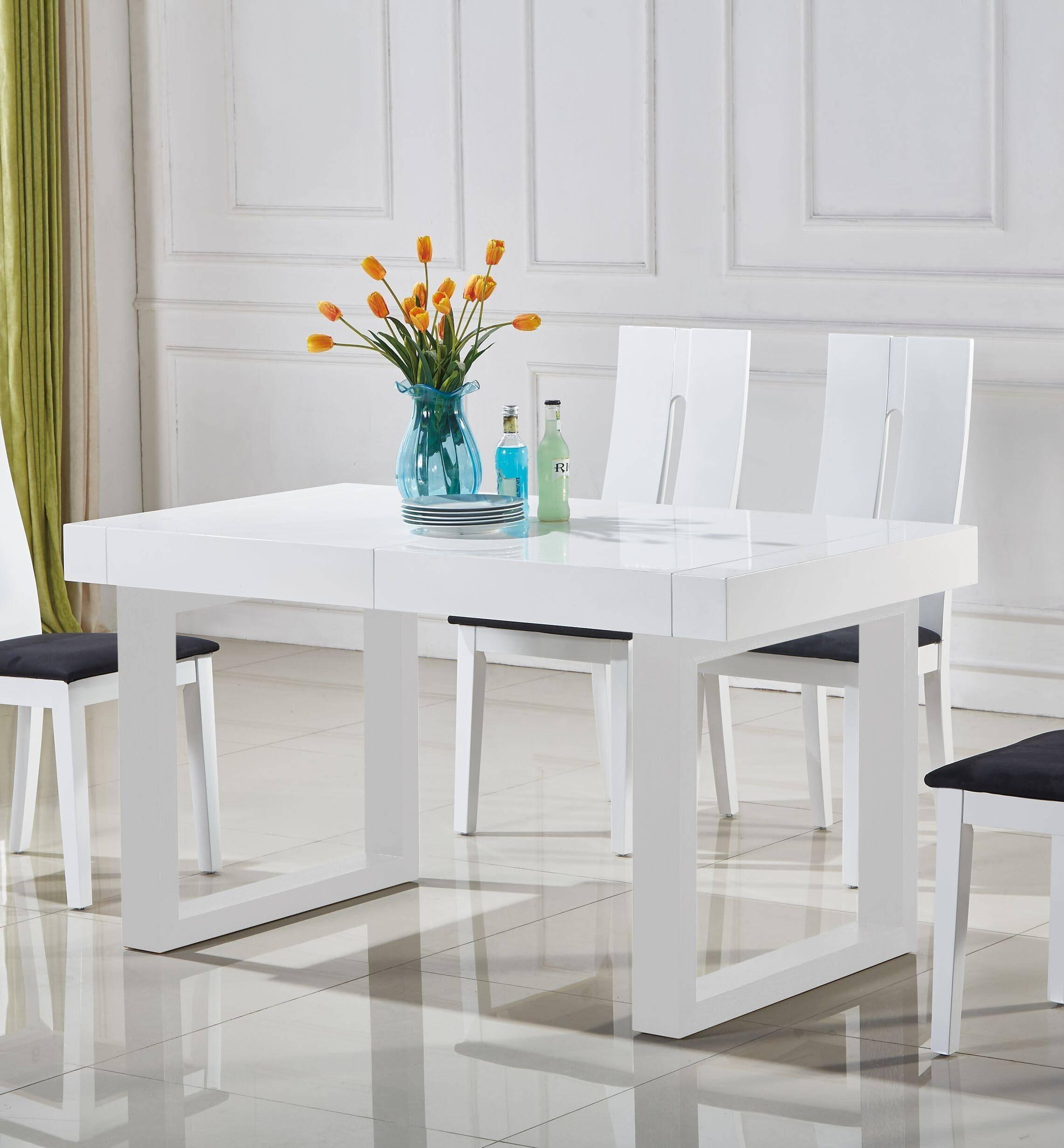 Buy At Home Laura Dining Table In White Wood Wood Veneers Online