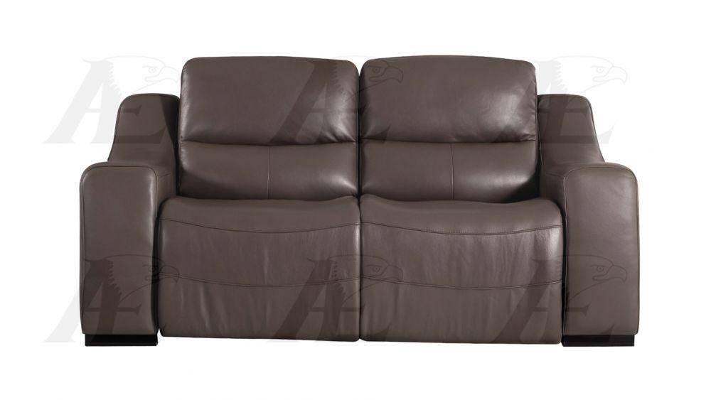 American Eagle EK086-TPE Recliner Sofa Set 2 Pcs in Taupe, Italian Leather