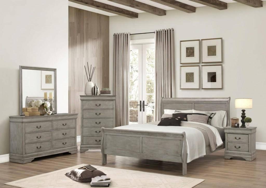 Buy Crown Mark B3500 Louis Philip Queen Sleigh Bedroom Set 5 Pcs
