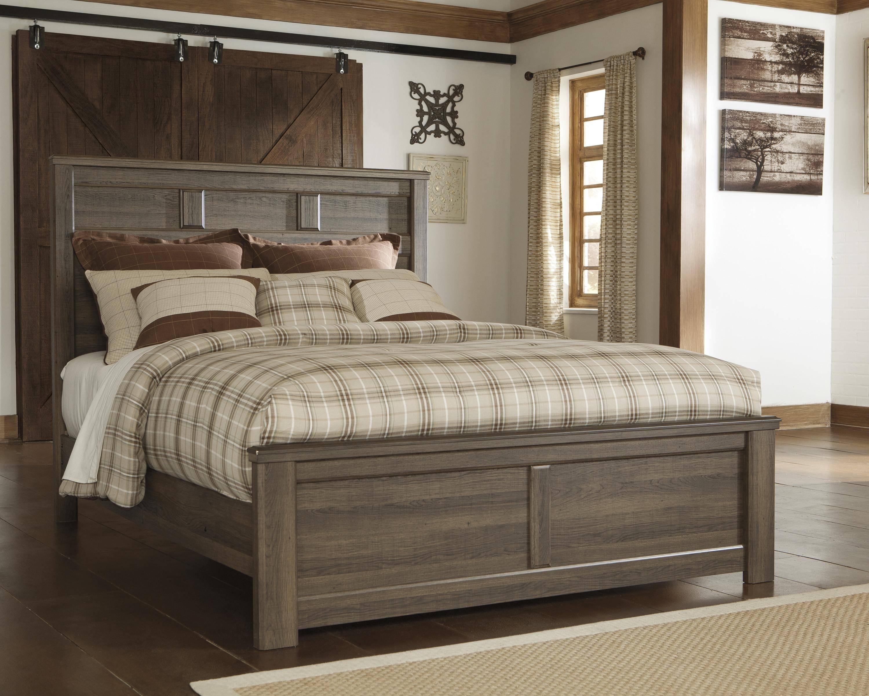 buy ashley juararo queen panel bedroom set 6 pcs in dark