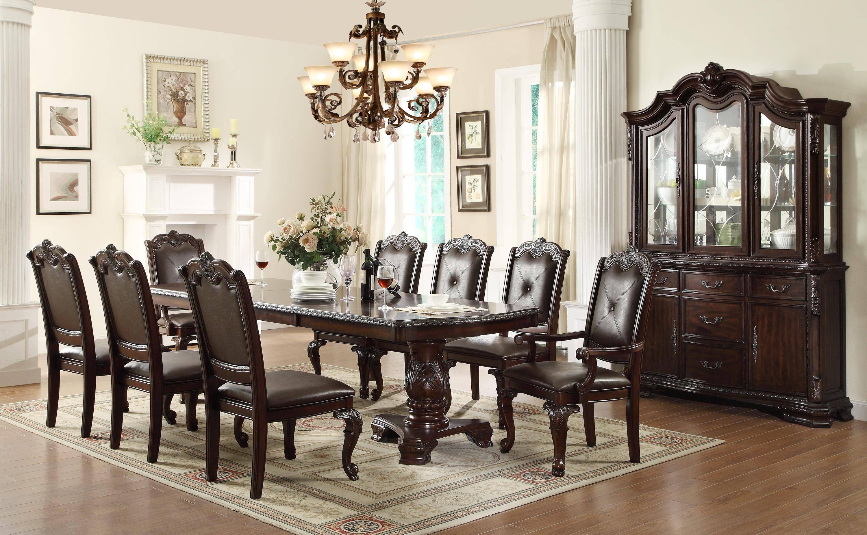 Fantastic Crown Mark Kiera Dining Sets 9 Pcs In Dark Brown Leatherette Download Free Architecture Designs Sospemadebymaigaardcom