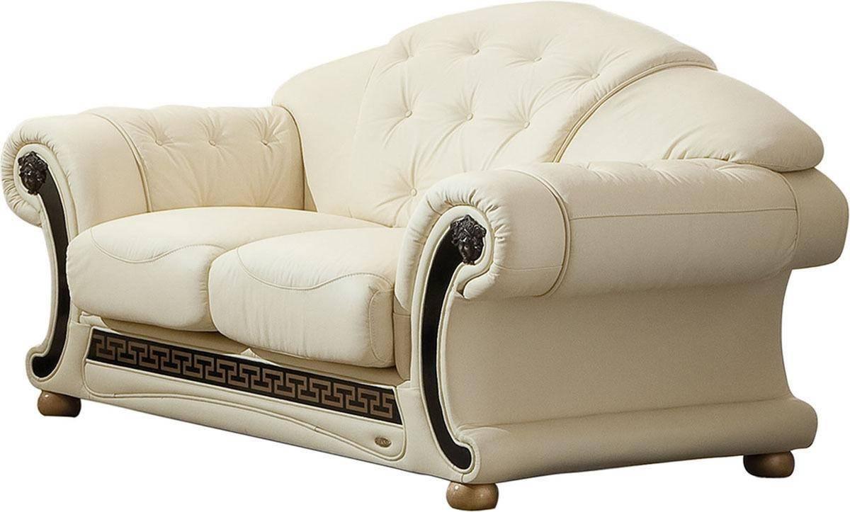 Strange Soflex V Cleopatra Sofa Loveseat Chair 3 Pcs In Beige Leather Uwap Interior Chair Design Uwaporg