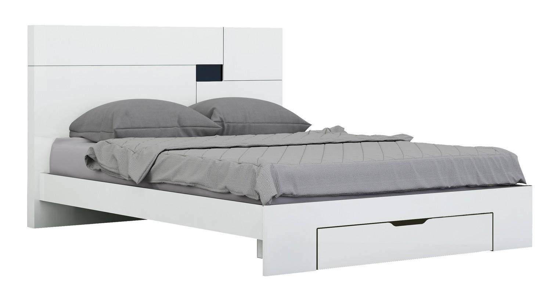 Global United Aria California King Platform Bedroom Set 4 Pcs In White Wood Solids And Veneer
