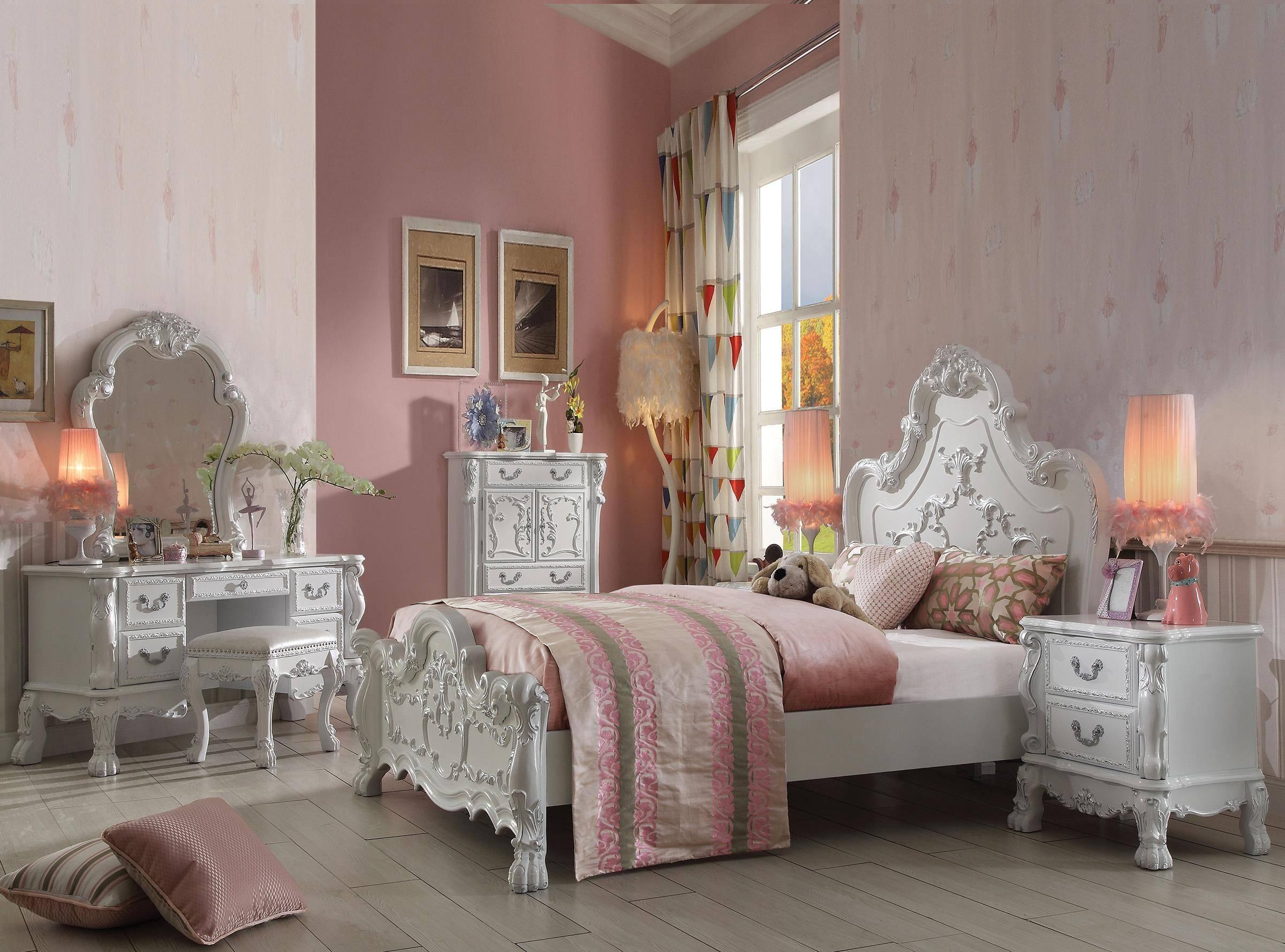 Buy Acme Dresden Kids 30660q Queen Panel Bedroom Set 3 Pcs In