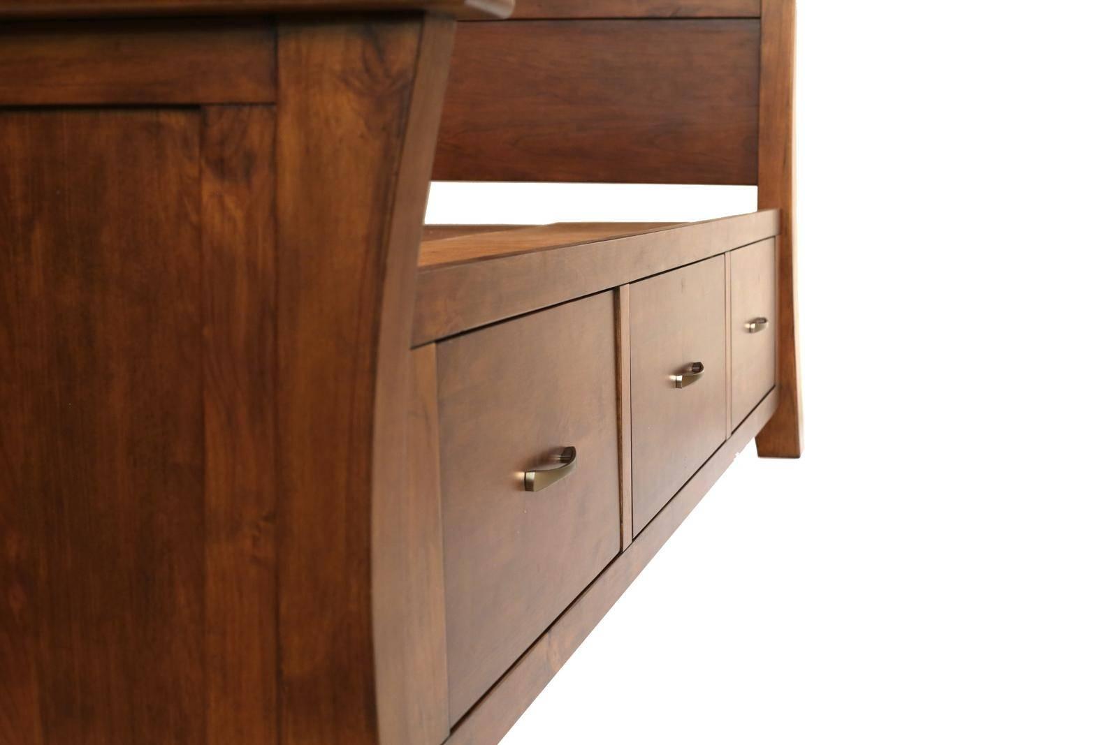 Buy A America Grant Park Queen Storage Bedroom Set 5 Pcs In Pecan Wood Online