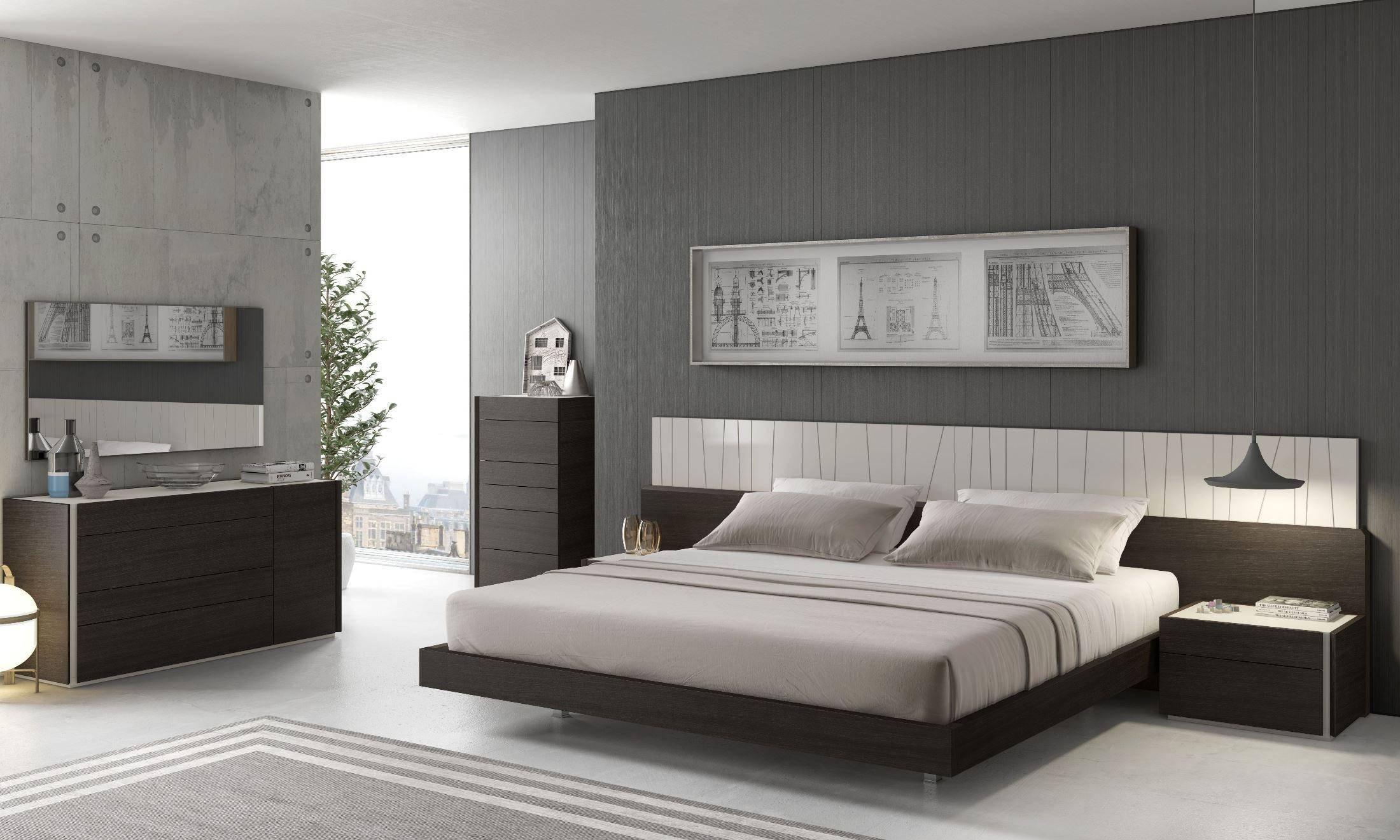 Picture of: Buy Orren Ellis Elida King Platform Bedroom Set 4 Pcs In Wenge Wood Veneers Online