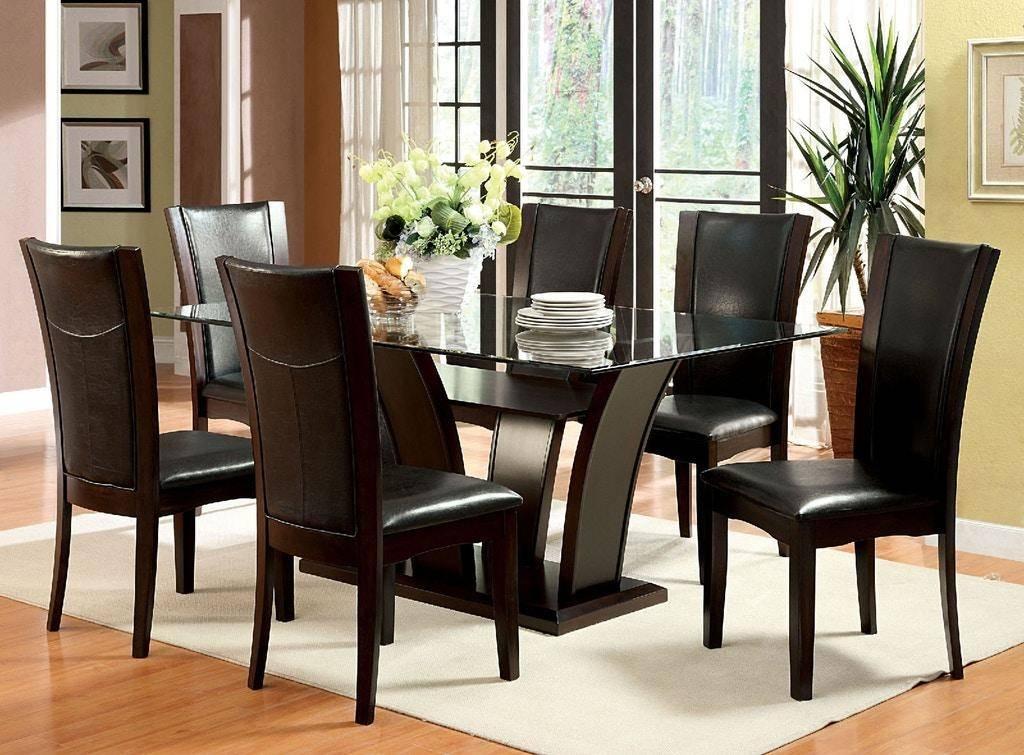 buy furniture of america manhattan i dining room set 7 pcs