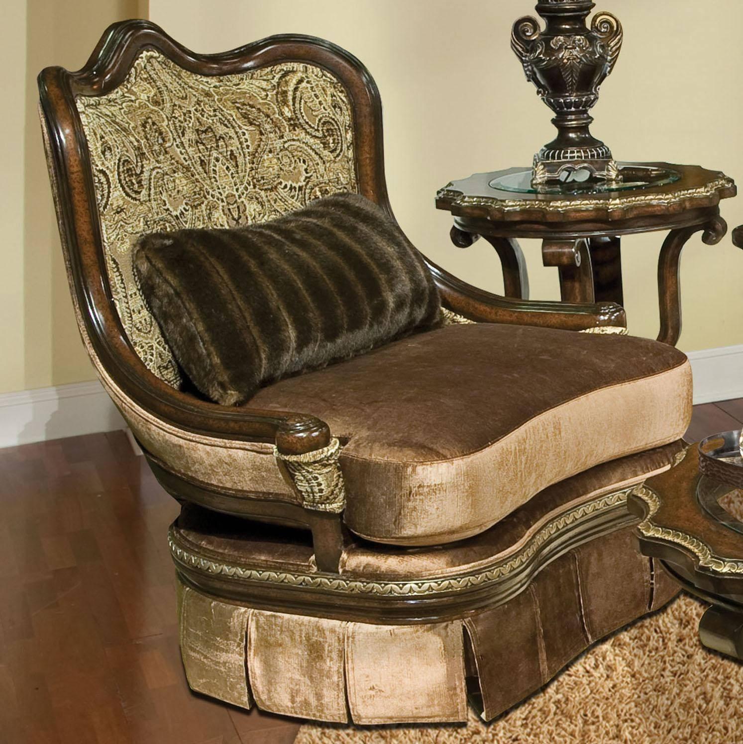Picture of: Buy Benetti S Bertina Swivel Accent Chair In Reddish Brown Golden Beige Fabric Online