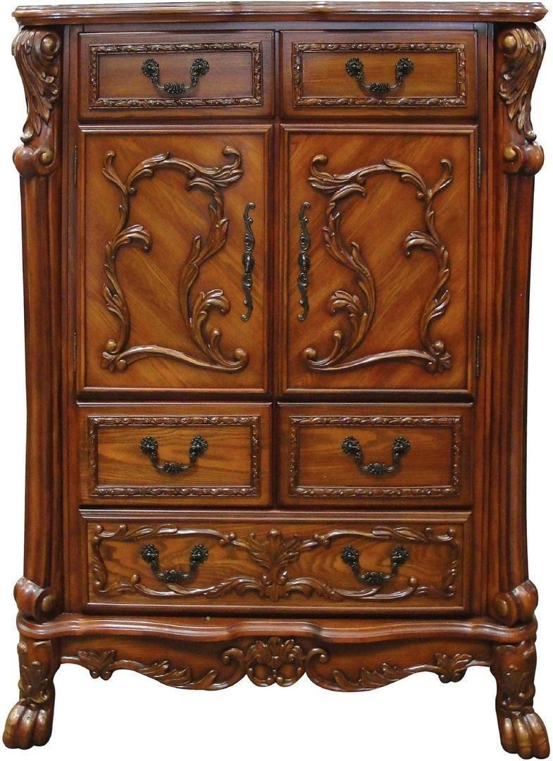 Buy Acme Dresden 12140q Set Queen Panel Bedroom Set 5 Pcs In Cherry Wood Oak Veneers Online