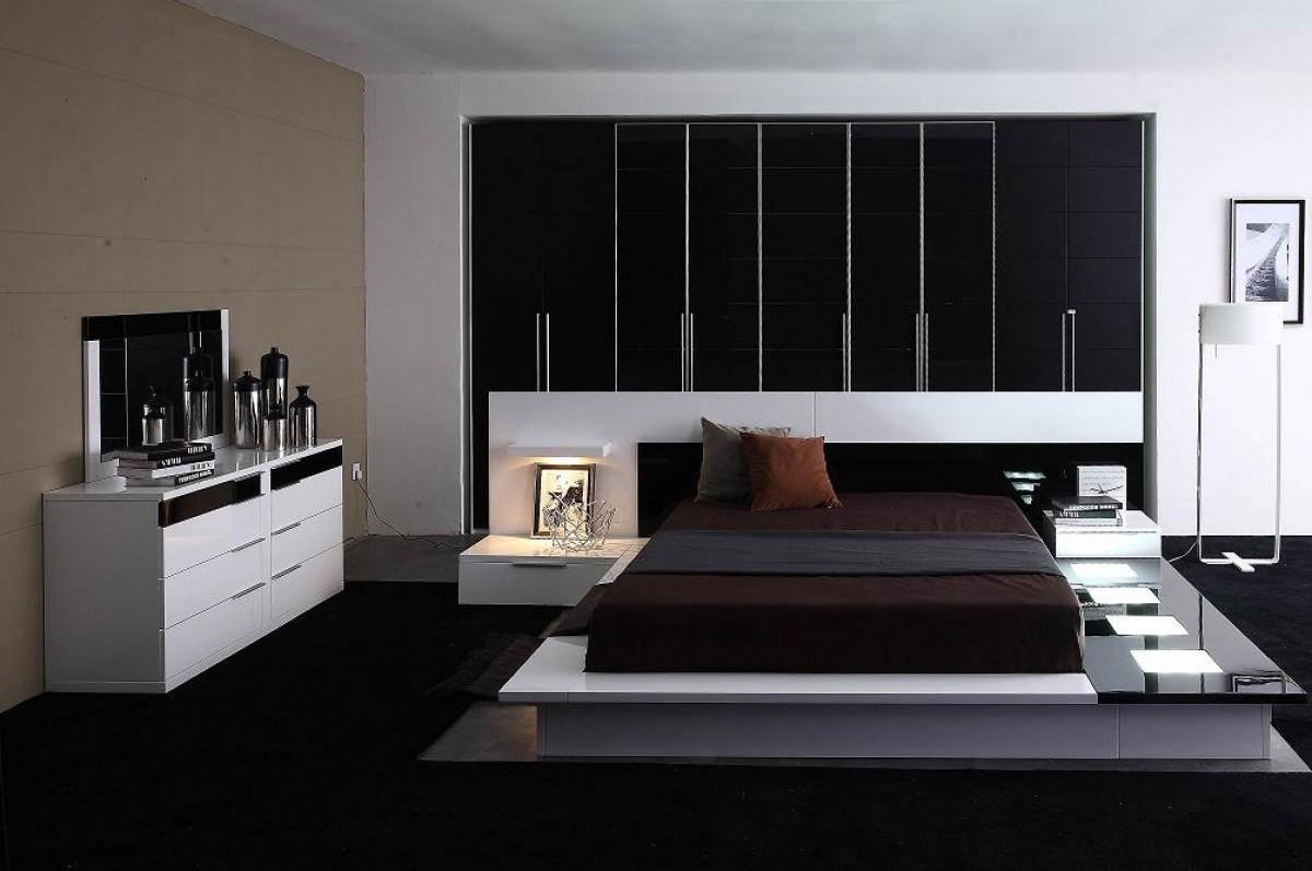 VIG Modrest Impera California King Platform Bedroom Set 3 Pcs in White,  Veneers