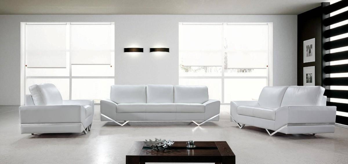 Buy Soflex San Francisco Sofa Set 3 Pcs In White, Eco-Leather Online