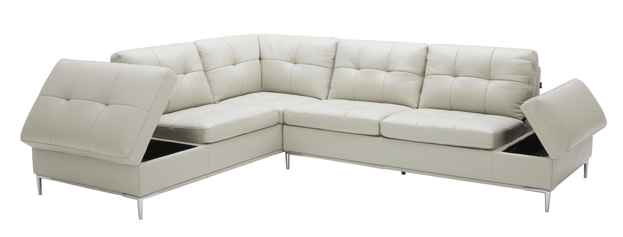 Buy J&M Leonardo Sectional Sofa Left Hand Chase in Silver ...