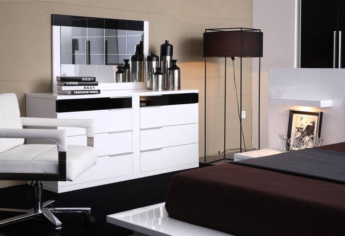 Buy Vig Modrest Impera King Platform Bedroom Set 3 Pcs In Black White Veneers Online