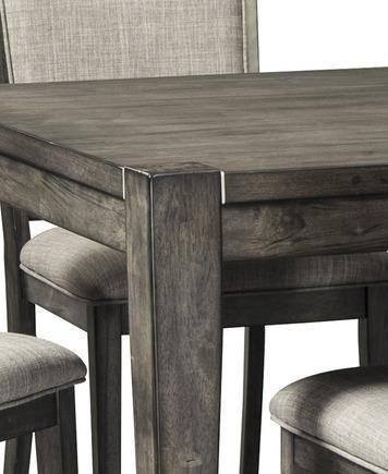 Buy Ashley Chadoni Dining Room Set 7 Pcs In Gray Fabric Online