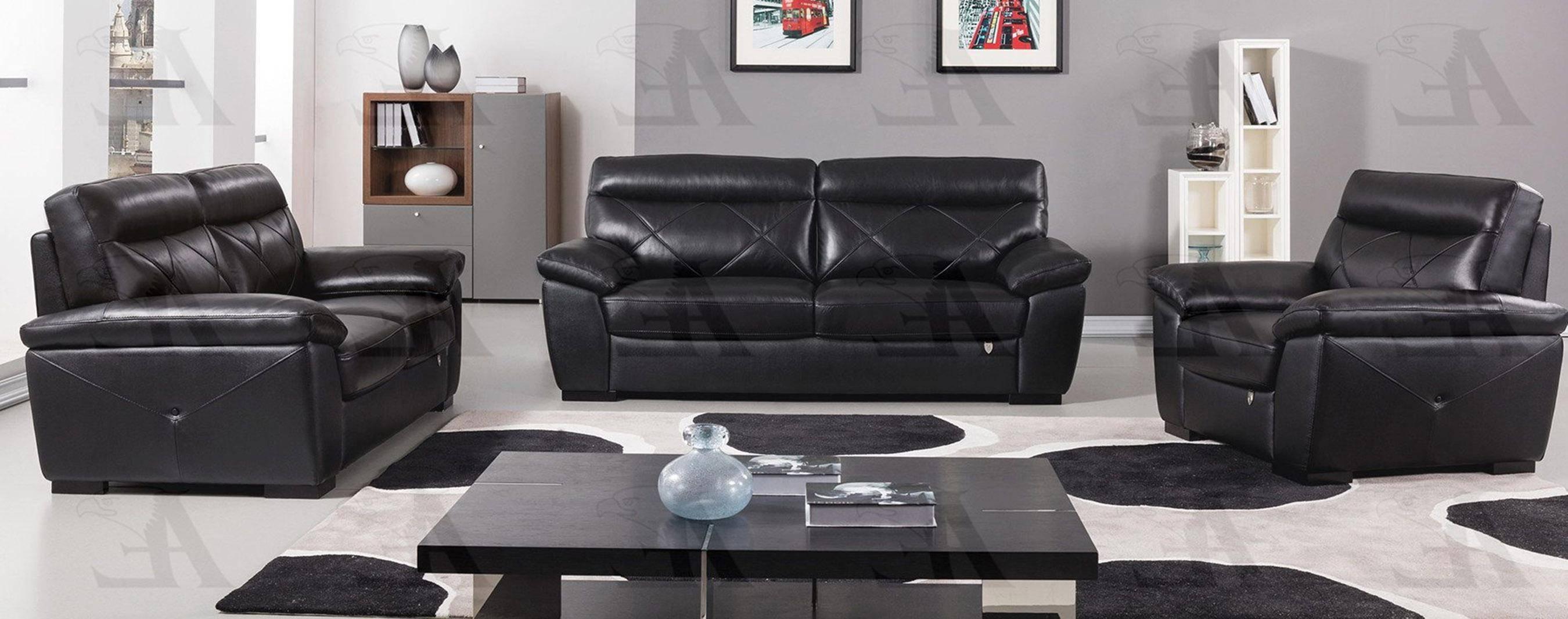 Buy American Eagle EK081 BK Sofa Loveseat and Chair Set 3 Pcs in