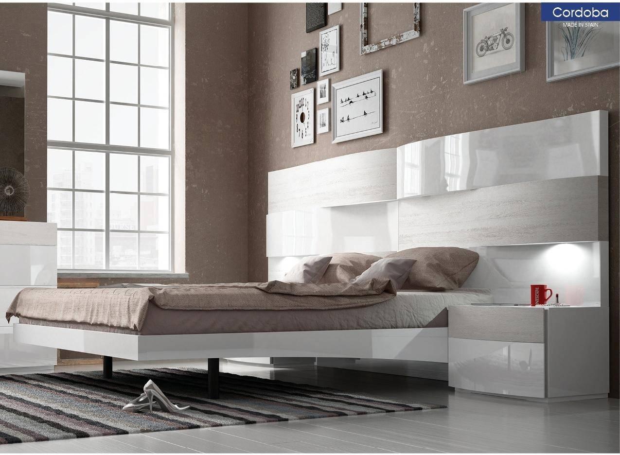 Buy ESF Cordoba Queen Platform Bedroom Set 3 Pcs in Ivory, White ...