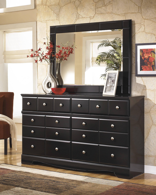Buy Ashley Shay King Poster Bedroom Set 6 Pcs In Black Almost Black Wood Online