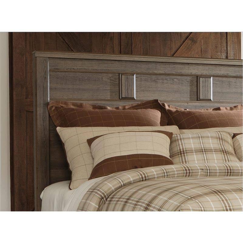 buy ashley juararo king poster bedroom set 3 pcs in dark
