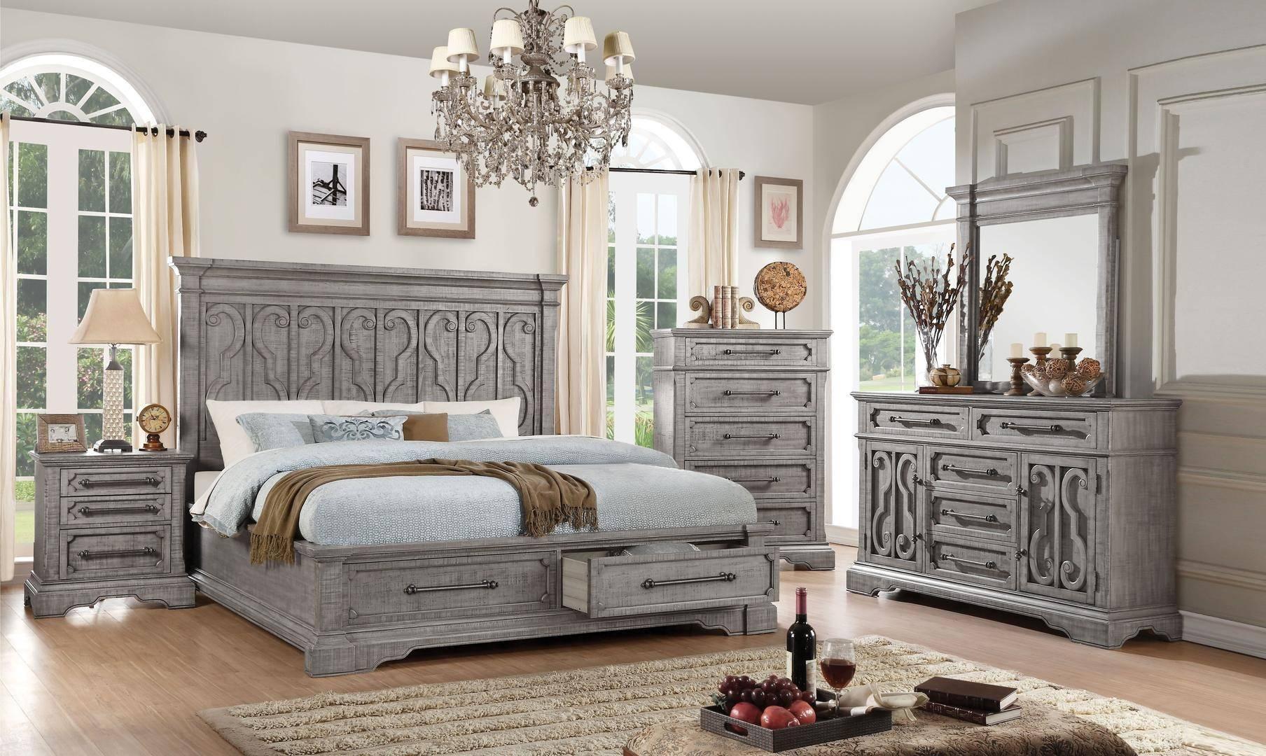 Buy Acme Artesia Queen Storage Bedroom Set 5 Pcs In Natural Wood Wood Wood Veneers Online