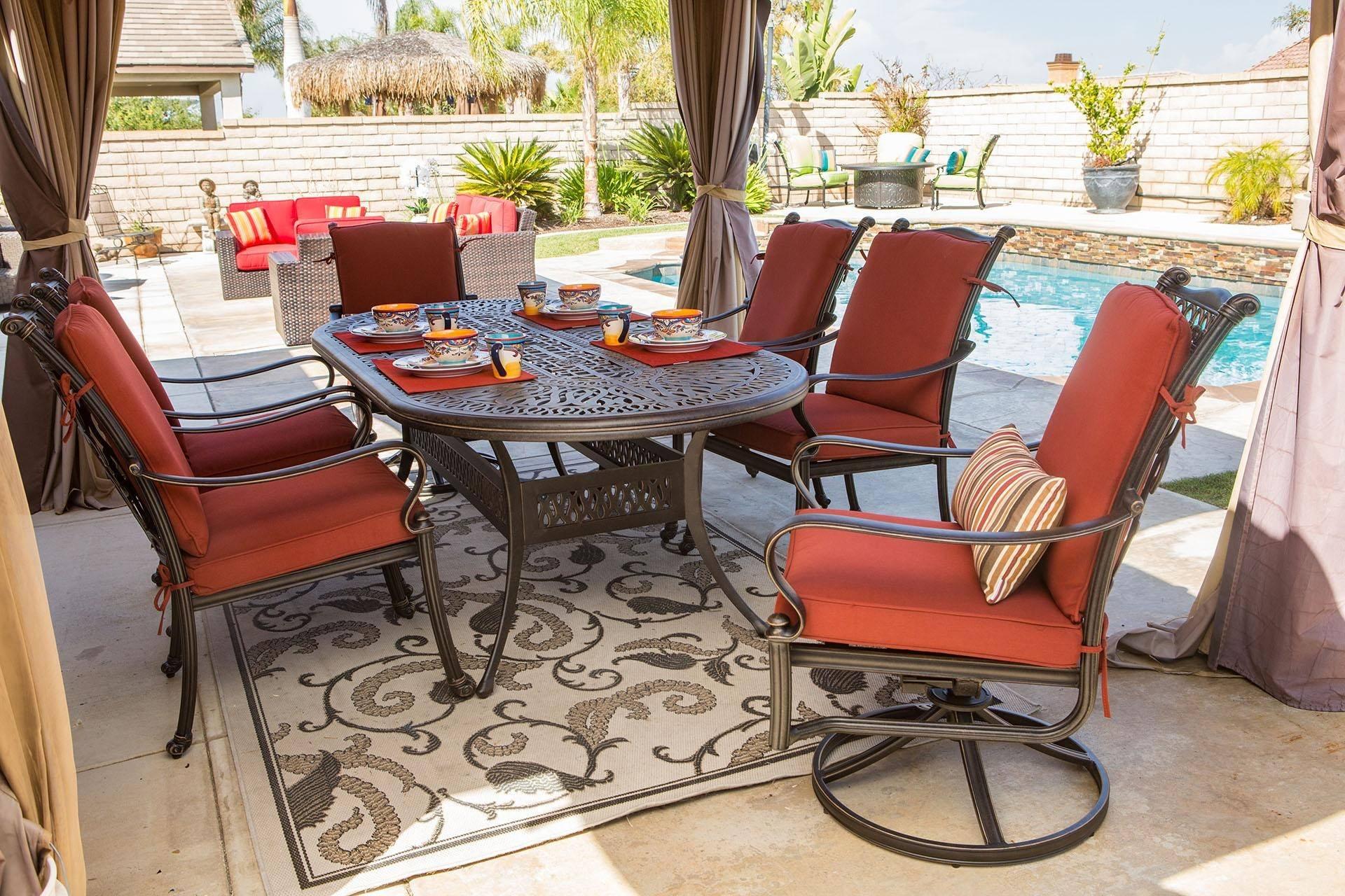 calipatio alexis patio club chair swivel rocker 2 pcs in bronze natural fabric