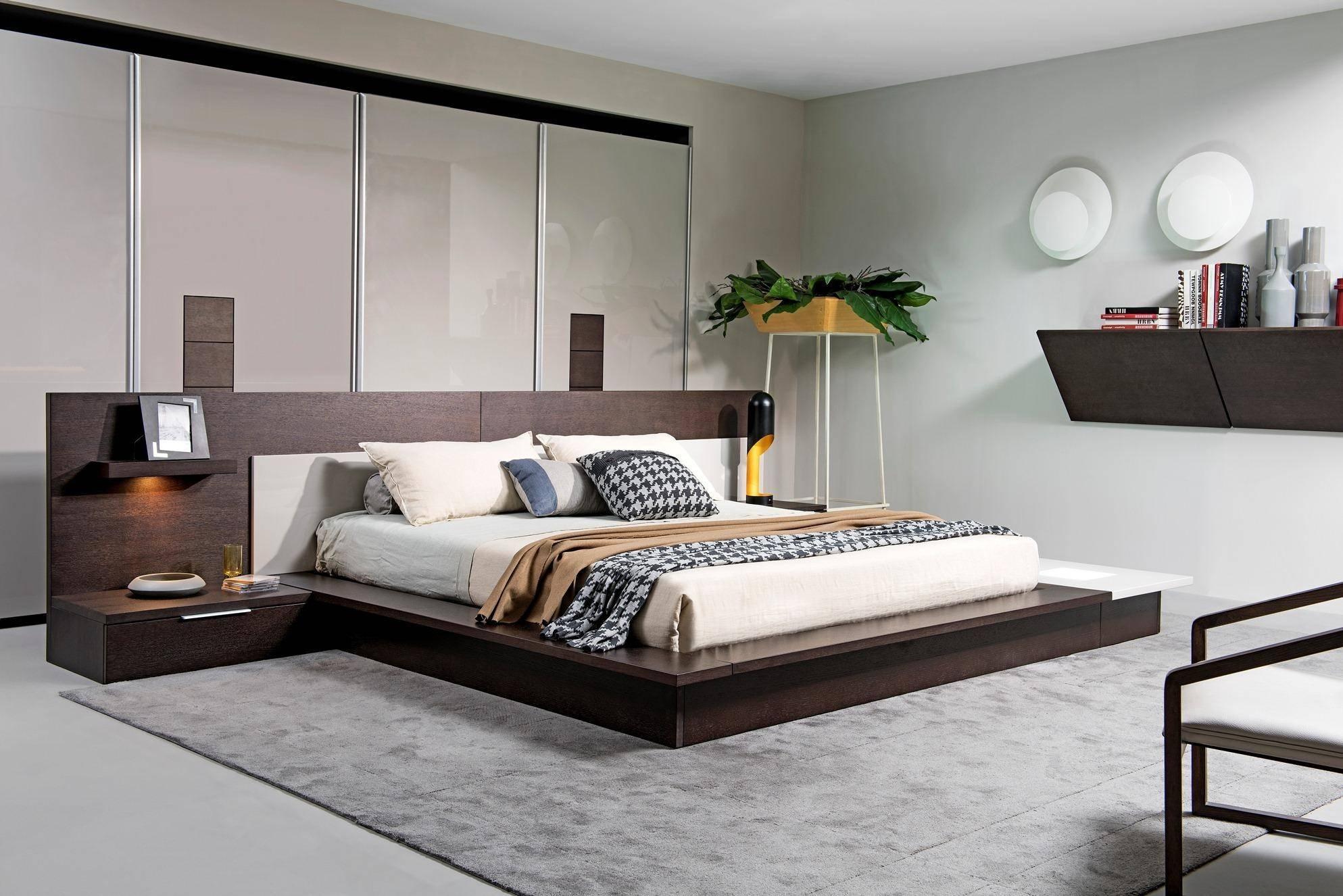 Buy Soflex Rochester King Platform Bed In Brown Gray Wood Online